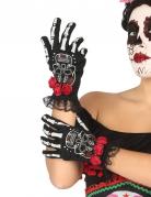 Vous aimerez aussi : Gants courts squelette mexicain femme Dia de los muertos