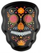 Plateau squelette coloré 35 cm Dia de los muertos