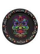 Vous aimerez aussi : 6 Petites assiettes en carton squelette coloré Dia de los muertos 17 cm