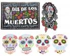 Kit 7 décorations Squelette coloré Dia de los muertos