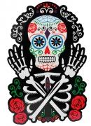 Vous aimerez aussi : Décoration murale Squelette coloré Dia de los muertos 38 x 25 cm