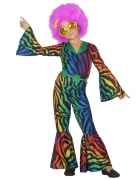 Déguisement disco léopard multicolore fille