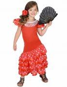 Déguisement Danseuse Flamenco Rouge à Pois Blanc Fille