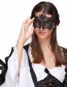 Masque dentelle noir femme