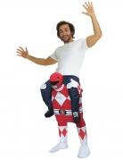 Déguisement homme porté par Power Rangers™ rouge adulte Morphsuits™
