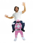 Déguisement homme porté par Power Rangers™ rose adulte Morphsuits™