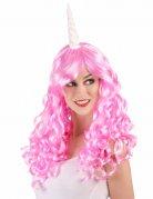 Perruque licorne rose femme