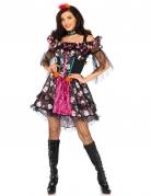 Déguisement poupée colorée femme Dia de los muertos