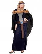 Déguisement princesse médiévale avec fausse fourrure femme