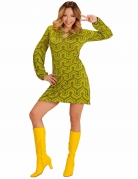 Déguisement groovy vert années 70 femme