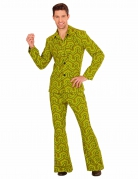 Déguisement groovy vert années 70 homme