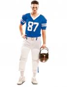 Déguisement joueur de football américain bleu homme