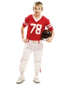 Déguisement joueur de football américain rouge garçon