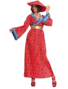 Déguisement chinoise rouge femme