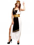 Déguisement maitre romain noir et blanc femme