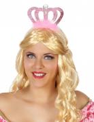Diadème princesse rose adulte