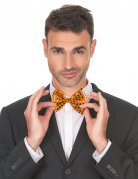 Noeud papillon orange avec paillettes adulte