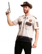 T-shirt shérif des zombies adulte