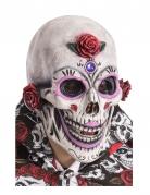 Masque squelette maquillé adulte Dia de los muertos