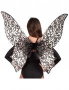 Grandes ailes papillon noir femme