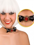 Noud papillonavec diamant rouge adulte halloween