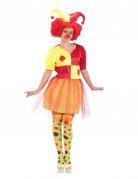 Déguisement clown avec cartes femme