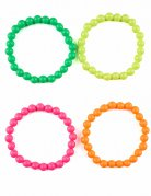 Bracelets lot de 4 multicolores adulte