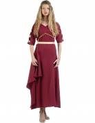 Déguisement romaine rouge femme