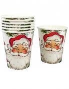 8 Gobelets en carton Père Noël 250 ml
