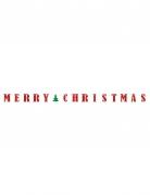 Guirlande bannière Merry Christmas 3,65 m