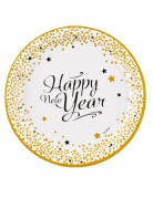 Vous aimerez aussi : 8 Assiettes en carton happy new year doré 23 cm