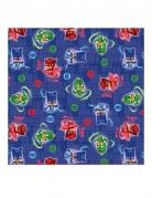 16 Serviettes en papier bleu Pyjamasques ™ 33 x 33 cm