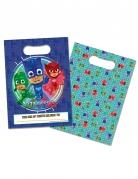 8 Sacs cadeaux bleus Pyjamasques ™ 16,5 x 23 cm