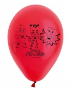 8 Ballons rouges en latex Pyjamasques ™