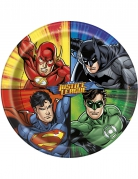 8 Assiettes en carton Justice League ™ 23 cm