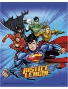 8 Sacs de fête Justice League ™ 18 x 23 cm