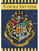 8 Cartes d'invitation Harry Potter ™