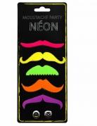 5 Moustaches fluo adulte