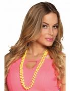 2 Colliers perles jaunes adulte