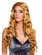 Perruque longue cuivrée avec petites tresses femme