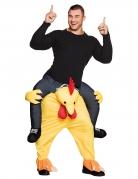 Déguisement homme à dos de poulet adulte