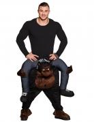 Déguisement homme à dos de gorille adulte