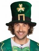 Chapeau haut de forme trèfle doré adulte Saint Patrick