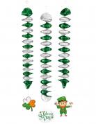 3 Décorations à suspendre spirales 60 cm Saint Patrick
