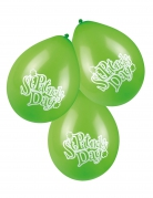 6 Ballons verts Saint Patrick 25 cm