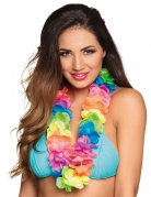 Collier Hawaï multicolore fluo luxe