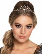 Mini couronne argentée femme