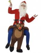 Déguisement Père Noël à dos de renne adulte