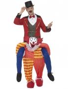 Déguisement homme à dos de clown adulte