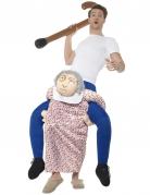 Déguisement homme à dos de grand-mère adulte